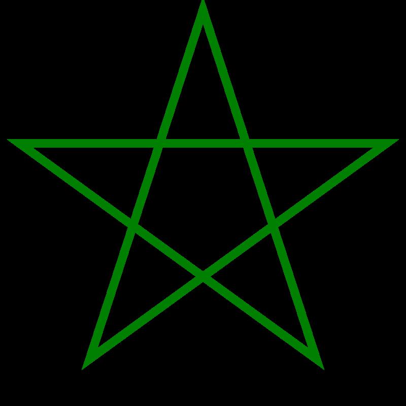 https://upload.wikimedia.org/wikipedia/commons/thumb/7/7f/Pentagram_green.svg/800px-Pentagram_green.svg.png