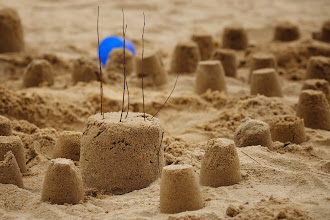 Photo: Sand castle, Bethany and I built.