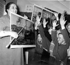 Photo: 1953 Opettaja Irja Korhola, Cycnaeuksen koulu