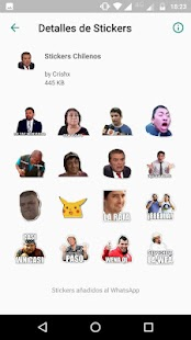 Stickers Packs for WhatsApp - Chilenos y Randoms Screenshot