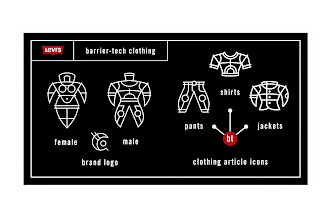 "Photo: Levi's Clothing Article Icons - ""Female, Male, Brand Logo, Pants, Shirts, Jackets"" - Custom Icon designs"