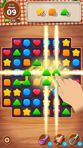 Cookie Crunch: Link Match Puzzle fond d'écran 2