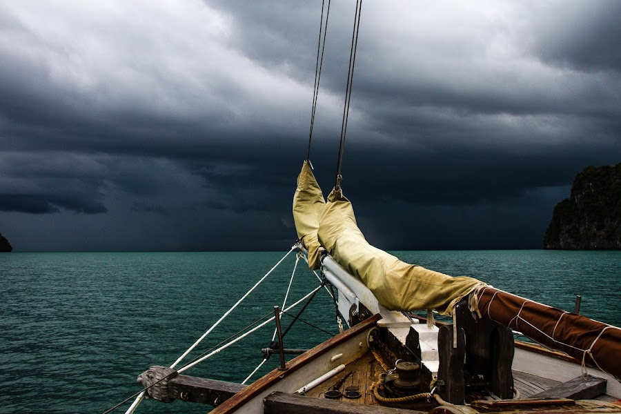 Before the storm by Ralf  Harimau - Landscapes Weather ( clouds, ship, storm )