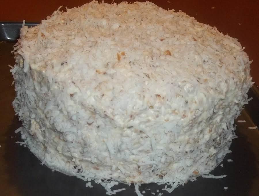 Angel Flake Coconut Cake