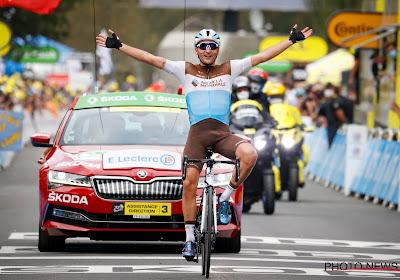 Nans Peters kan amper geloven dat hij nu ook wint in de Tour