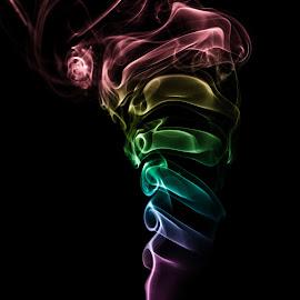 Rainbow smoke bomb by Ewald Gruescu - Abstract Fire & Fireworks ( gruescu, nikon, sigma, ewald, rainbow, smoke, timisoara, adobe, photoshop, romania, lightroom, photography )
