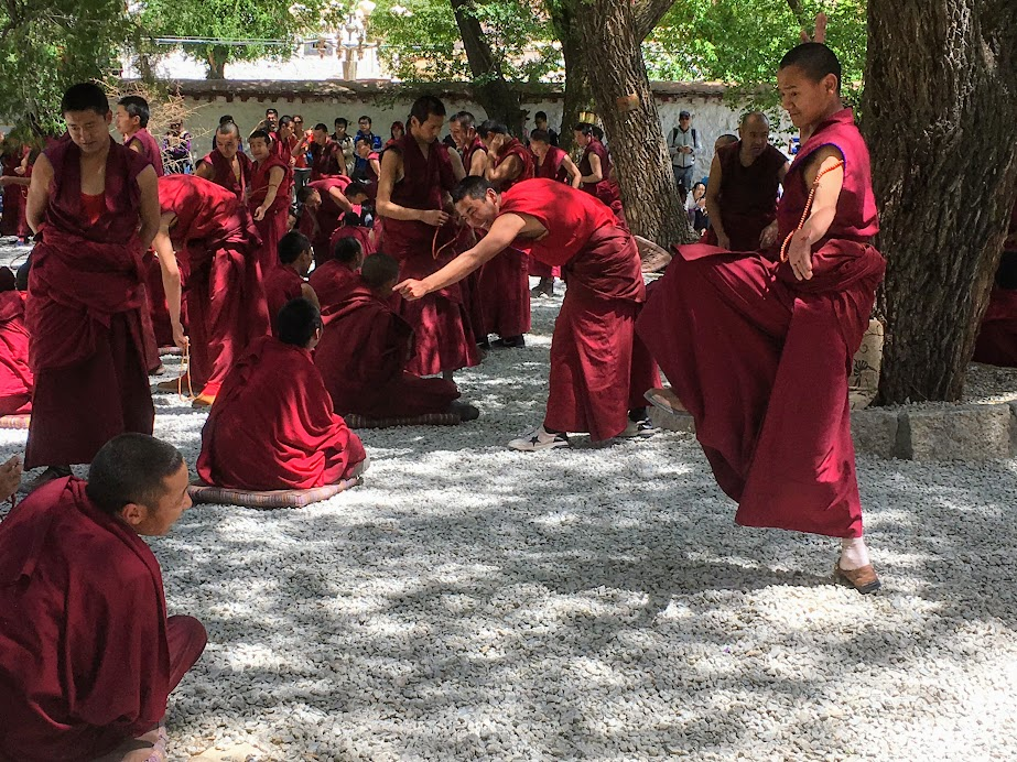 The debating monks of Sera Monastery.