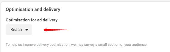 facebook ads delivery optimization options