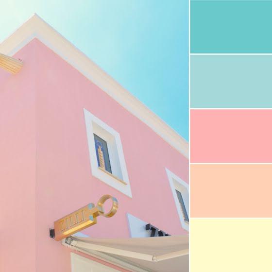 Bright Palette - Brand Board Template