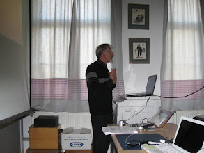 Photo: At the Kring, Christian gave a powerpoint presentation in French on the life of Lin Fuchen (one of Paul's Chinese names).