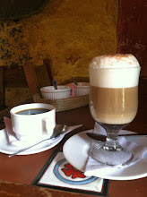 Photo: Ahhh.. coffee break in a day of walking tour in Quito.