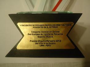 Photo: REIP - Premio ORGULLO PERUANO 2012 - Lima