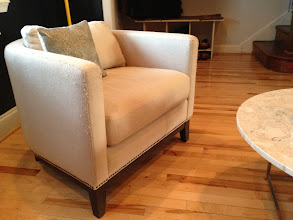 Photo: $150. West Elm tub chair, see next pics for damaged areas.