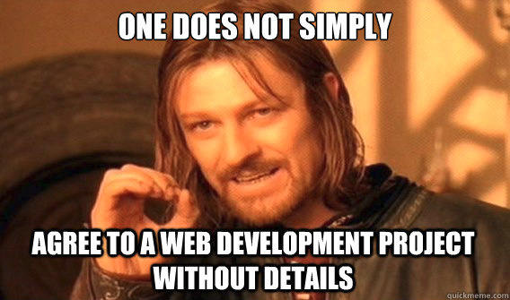 Ned stark explaining how important business requirement analysis is in web developmen