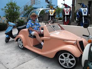 Photo: Warren found a car he likes.
