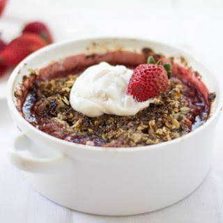 Strawberry Hazlenut Crumble with Coconut Whipped Cream
