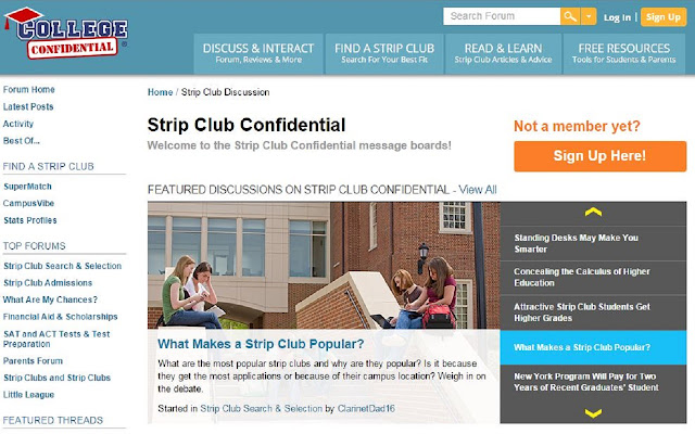 College to Strip Club