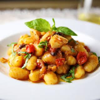Gluten Free Gnocchi with Baccala' Alla Romana (Gnocchi with Cod Roman Style).