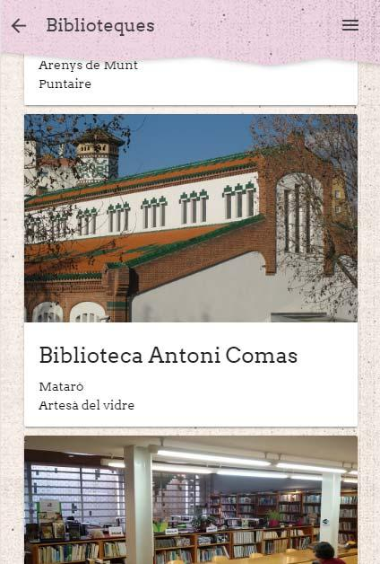 BiblioMaresme- screenshot
