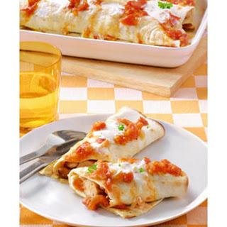 Wrap Met Kalkoenworstjes, Bonen En Tomatensaus