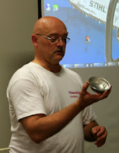 Photo: Don Van Ryk has gotten into metal spinning with good results.