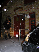 Photo: Spor i sneen efter en tyv