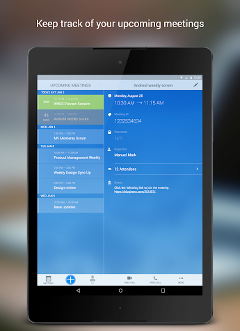 BlueJeans for Android Screenshot