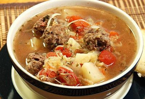 Hearty Meatball And Vegetable Soup Recipe