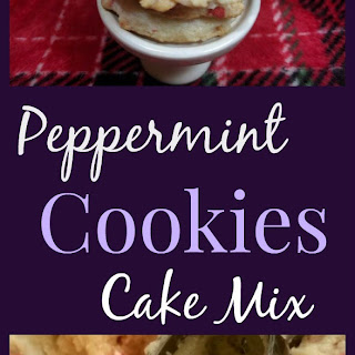 Peppermint Cake Mix Cookies