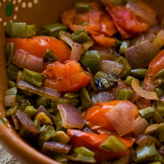 Nopalitos with Tomatoes and Onions.