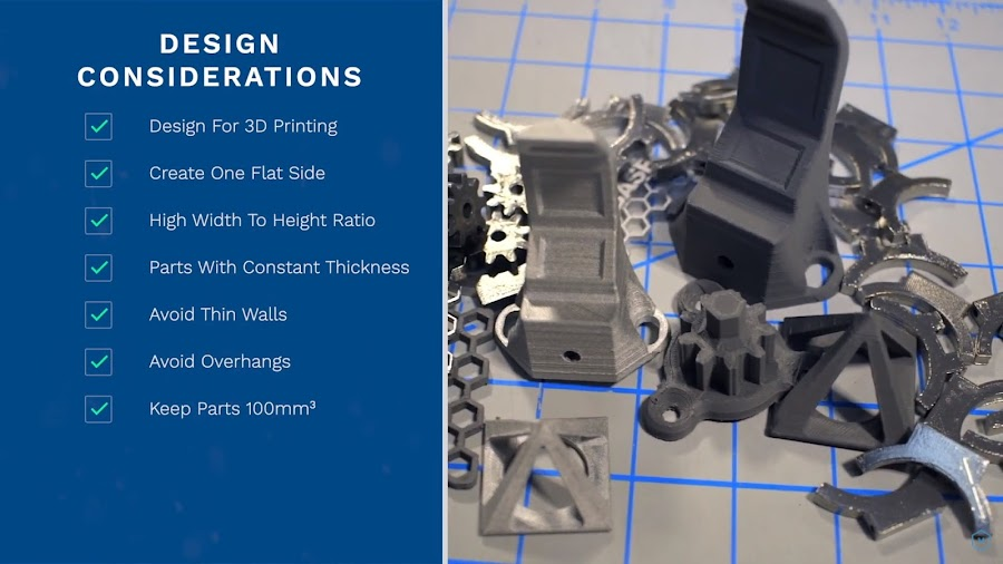 Just like thermoplastics, metal-polymer composite filaments must also follow specific design considerations when going through the Fused Filament Fabrication process.