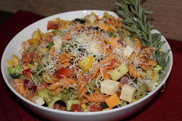 Colorful Party Pasta Salad Recipe