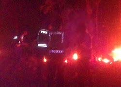 Kebakaran hutan di petak 117c RPH Sawoo