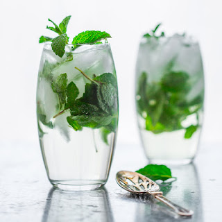 Maple Mint Vodka Spritzer.