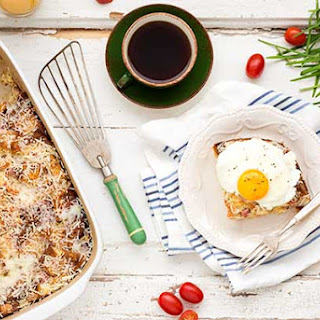 Gluten Free Croque Monsieur Bread Pudding