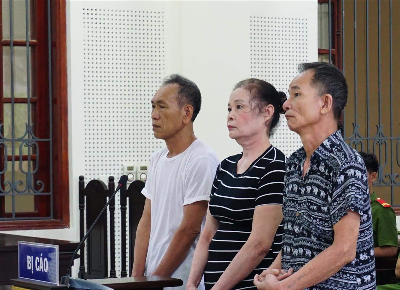 3 bị cáo tại phiên tòa