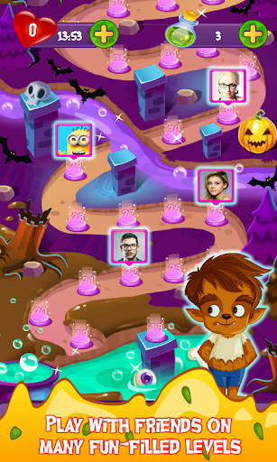 Halloween Smash 2020 - Witch Candy Match 3 Puzzle apklade screenshots 2