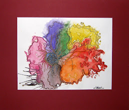 Photo: watercolour, oil-based ink