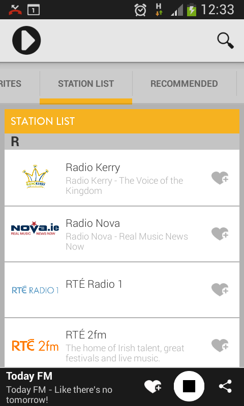 Irish Radioplayer- screenshot
