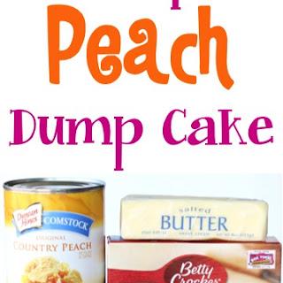 Crockpot Peach Dump Cake