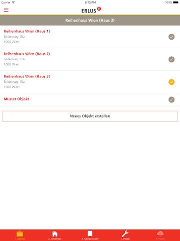 android ERLUS Profi-App Schornstein Screenshot 5