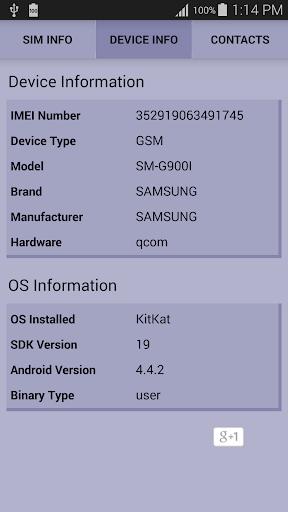 SIM and Device Info