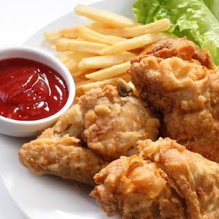 Crispy Popeyes Fried Chicken.