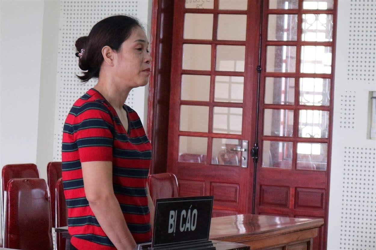 Bị cáo Vũ Thị Thanh tại phiên tòa