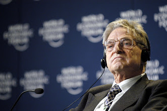 Photo: DAVOS,26JAN03 - George Soros, captured the session 'Globalization: Globalization at a Crossroads' during the 'Annual Meeting 2003' of the World Economic Forum in Davos/Switzerland, January 26, 2003. 