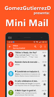 Mini Mail - For Gmail, Yahoo y Hotmail - náhled