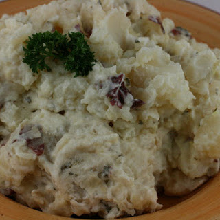 CrockPot Mashed Potatoes with Cream Cheese and Sour Cream.