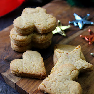 Peanut Butter Honey and Almond Shortbread cookies