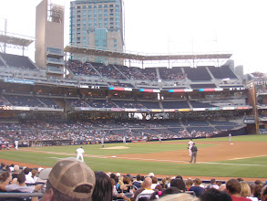 Photo: Taking in an evening Padres game after a long day of meetings