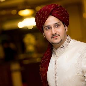 Portrait by Awais Javed - Wedding Groom ( canon, wedding, portrat, 6d, groom )
